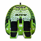 RAVE Sports Warrior II 2 Rider Double Seat Inflatable Towable Water Tube Green
