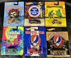Hot Wheels Grateful Dead Complete Set Collection Lot of 6 Real Riders + BONUS