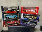 LOT OF 6 CORVETTE DIECAST CARS 118 IN BOX CHEVY 10791