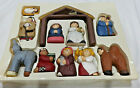 RARE Midwest Of Cannon Falls Eddie Walker Christmas 11pc Nativity COMPLETE SET
