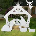 4ft Christmas Holy Family Nativity Scene Outdoor Yard Decoration w Water