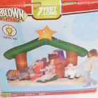 GEMMY Holy Family Nativity Scene Jesus Mary Christmas Airblown Inflatable