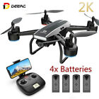 DEERC D50 FPV Drone with 2K FHD Video live Camera RC Quadcopter TapFly Toy Kids