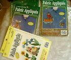 8 APPLIQUES BEAR CAT MOOSE CABIN FEVER FABRIC APPLIQUES IRON ON WHATS NEW