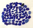 genuine sea glass surf tumbled 71 Blue Bottle Lips