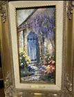 Quiet Garden Framed Print Number signed by Marty Bell Vivid Colors  COA