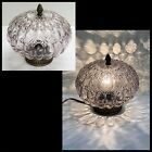 Vintage MID CENTURY 10 SMOKE BUBBLE GLASS GLOBE SHADE CEILING LAMP Swag MCM
