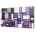 PURPLE GLASS MOSAICS ABSTRACT MODERN CANVAS WALL ART PRINT PICTURE READY TO HANG