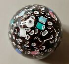 Vintage Art Glass Floating Cane Millifiore Paperweight 2 1 2 125lbs