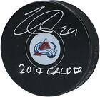 Nathan MacKinnon Colorado Avalanche Signed Hockey Puck with