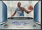Kevin Garnett 2006-07 UD SP Game Used Auto Autograph Significance SP 034 100
