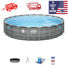 NEW Coleman Power Steel 22 x 52 Above Ground Swimming Pool W Pump  Ladder