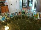 Lot of 9 Vintage Welchs Jelly Jar Glasses Assorted Collectibles Fun Kids