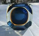 Murano Sommerso Blue Amber Clear Faceted Glass Bowl Ashtray