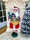 Byers Choice Santa Claus Caroler With A Basket Of Glass Christmas Ornaments