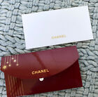 CHANEL VIP RED GOLD w Envelope  Blank White Card Iconic Set Limited Edition
