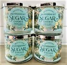4 BATH  BODY WORKS  PEPPERMINT SUGAR COOKIE  CANDLE LARGE 3 WICK 145 OZ NWT