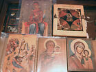 5 Russian Icons Mother of God Theotokos Spinning Thread Annunciation Nativity