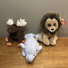 Beanie Babies lot of 3 - Zeus, Righty, Cecil