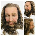 Life Size Wax Mans Head Realistic Prop Display 11 Vtg Glass Eyes Real Hair