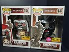 FUNKO POP HOLIDAYS KRAMPUS 15 + 14 HOT TOPIC EXCLUSIVE Flocked bundle