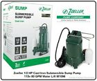 Zoeller 1 2 HP Cast Iron Submersible Sump Pump 115v 80 GPM Water Lift M1096