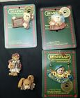 5 Boyd's Bearwear Pins FOB Club Exclusive Bunny Clown Bears Pins to Wear Cute