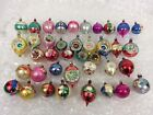 VTG Christmas Tree Glass Ornaments 39 Hand Painted Reflector Indents Poland
