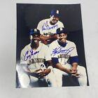 KEN GRIFFEY JR AND SR DUAL SIGNED JSA CERTIFIED 8X10 FATHER & SON AUTOGRAPHED
