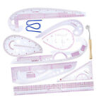 10 Stlye Fashion Ruler Set Vary Form Curve French Curve Pattern Grading Rulers