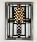Vintage Frank Lloyd Wright Collection Mini Stained Glass Window 6x8 Dana House