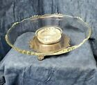Sheffield 13 LAZY SUSAN Turntable Glass Silver plate Cake Stand Serving Dish