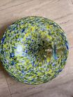 Dragonfly Blown Glass Green And Blue Large Bowl