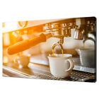 ESPRESSO POURING FROM THE COFFEE MACHINE CANVAS PRINT WALL ART PICTURE