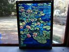 Stained Glass Panel Louis Comfort Tiffany 1988 Water Lily Glassmaster  Monet