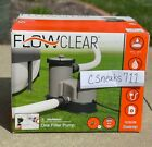 Bestway 58390 Flowclear 1500 GPH Filter Pump Above Ground Swimming Pool READ DES