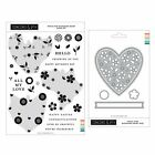 Concord  9th TRIPLE STEP BLOOMING HEART Clear Stamps + Dies Set 2021