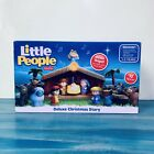 Fisher Price Little People Deluxe Christmas Story Kids Nativity Set Toy Open Box