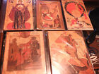 Russian Icons Lot of 5 Mother of God St George Nativity Annunciation Elijah