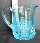 Fenton Mini Pitcher Creamer SY Blue Topaz 4 1 2 tall NEW OS