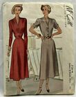 1948 Vntg McCall Sewing Pattern 7374 Womens Dress 2 Styles Size 20 38 Bust 8589