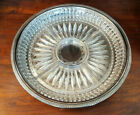 Vintage Silver Plated Tray with Pressed Glass 5 Section Hors Douvres Dish
