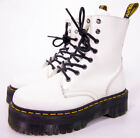 Dr Martens JADON White Leather 8 Eye Boots Womens Size 7