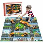 Kids Toys Engineering Construction Vehicle Set Play Mat Diecast Construction