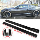 787 Side Skirts Extention Add on Body Kit For 2010 2015 Chevy Camaro LT LS SS