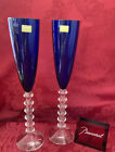 NEW FLAWLESS BACCARAT France Pair VEGA Glass FLUTISSIMO Crystal CHAMPAGNE FLUTES