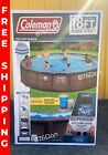 Coleman 18ft x 48in Above Ground Swimming Pool W Pump Ladder  Pool Cover