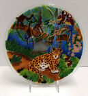 Peggy Karr Jungle Rainforest 11 Signed Plate Jaguar Monkey Parrot Ex Condition