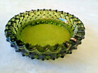 VINTAGE ASHTRAY 65 ROUND HOBNAIL GREEN GLASS MID CENTURY MODERN RETRO