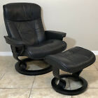 Ekornes Stressless Leather Recliner Chair Ottoman President Model Modern MCM